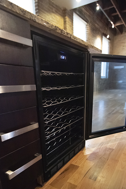 loft 2e kitchen wine chiller